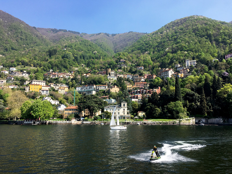 boat ride photo at Como Lake Italy a beautiful place to visit