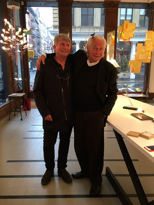 Ingo Maurer and Graham Owen enjoying an afternoon in New York City