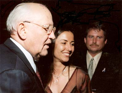 Mikhail Gorbachev, Liela Petersen and Graham Owen