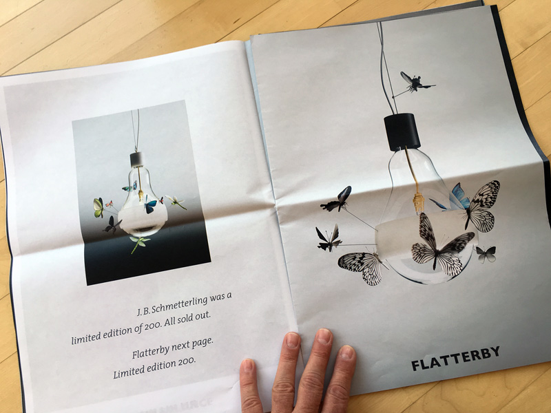 JB Schmettering and Flatterby butterfly lamps by Ingo Maurer