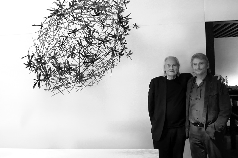 Ingo Maurer and Graham Owen in Milan Italy Spazio Krizia - Design Week - April 2013