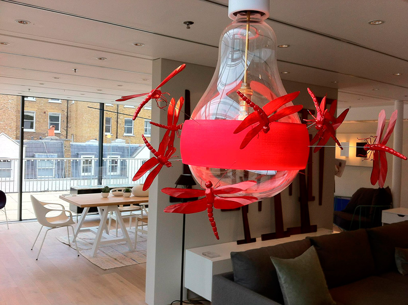 Ingo Maurer JB Dragonfly lamp on display at The Conran Shop London England 2012