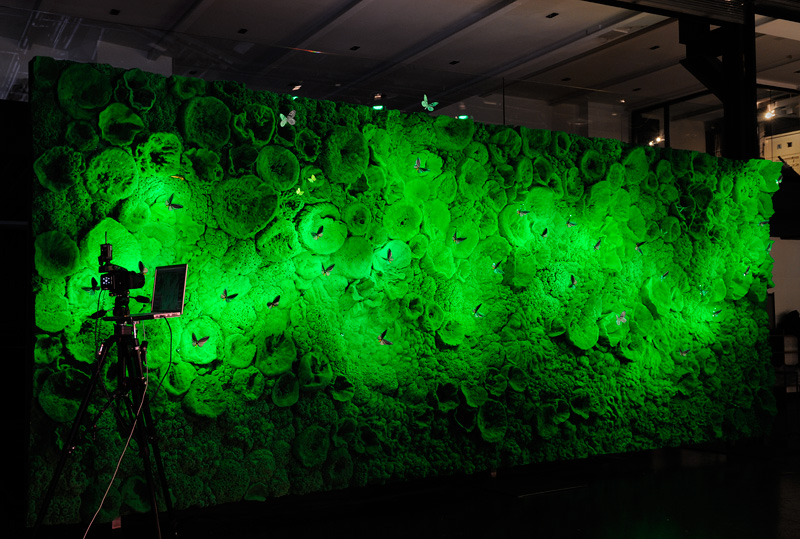 Ingo Maurer Green Wall with LED Butterflies