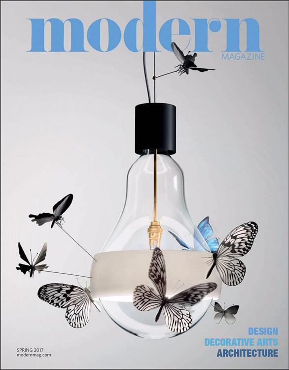 Modern Magazine Spring 2017 Cover   Ingo Maurer Flatterby Lamp
