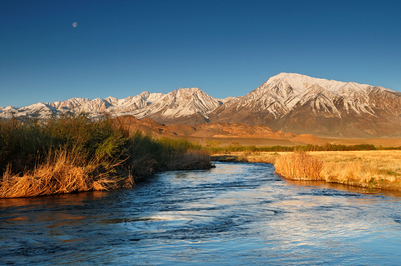 Eastern Sierra Lower Owens River just after sunrise