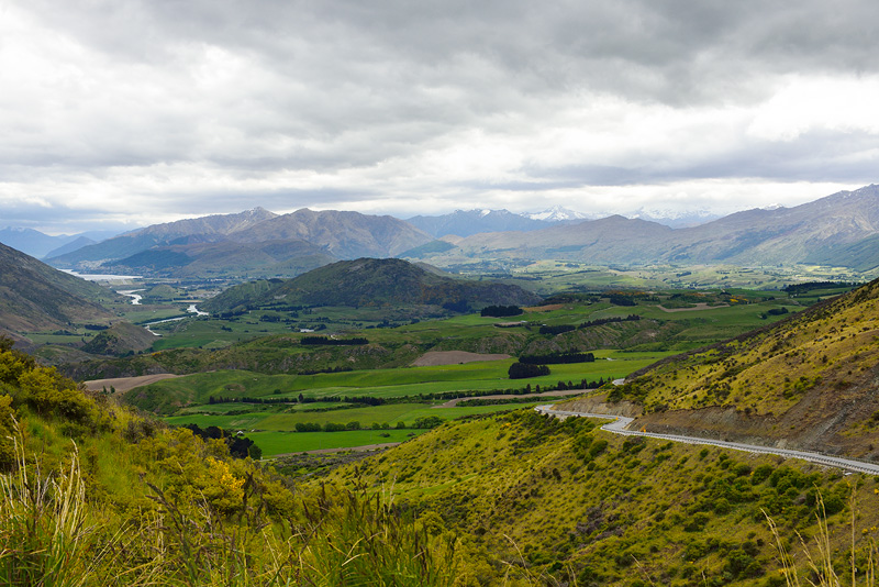 Beautiful New Zealand valley view