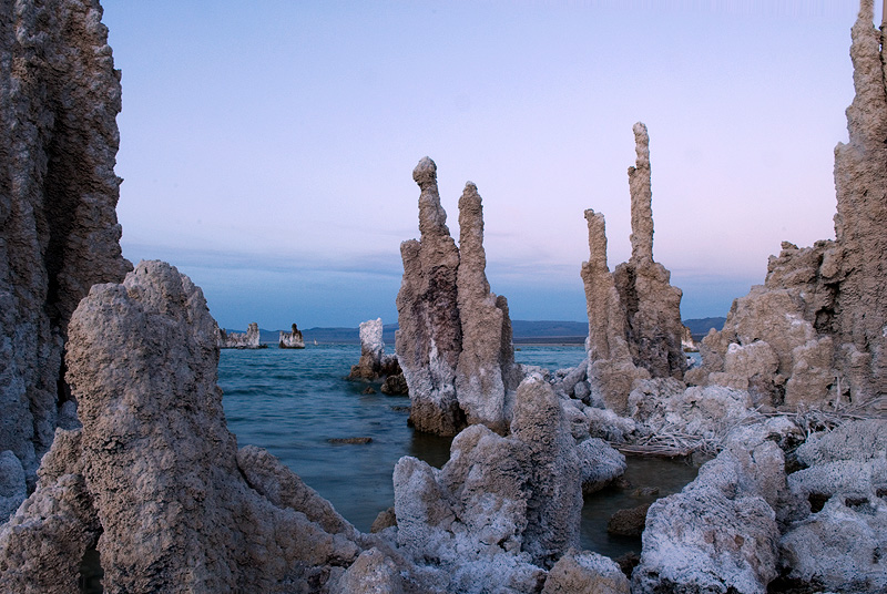 The south shore of Mono Lake tufa towers