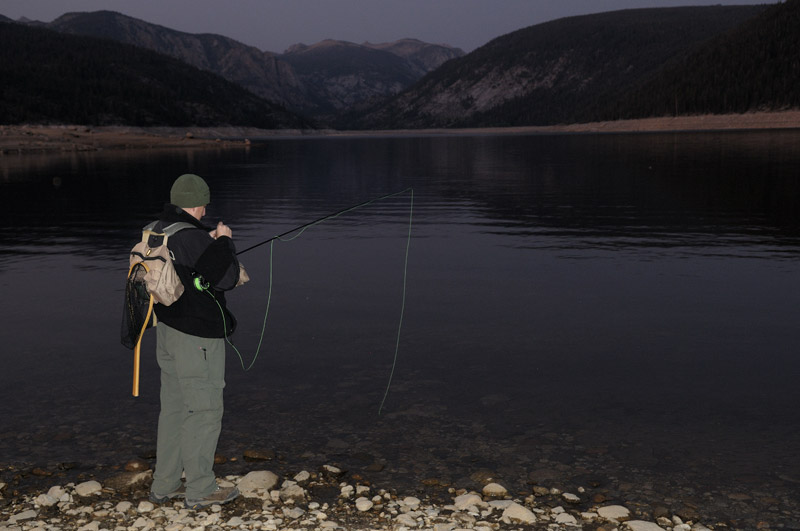 Western sierra summer fly fishing and photography for Trout fishing at night