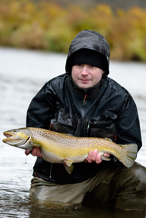 Jukka Tapio with a beautiful female brown trout