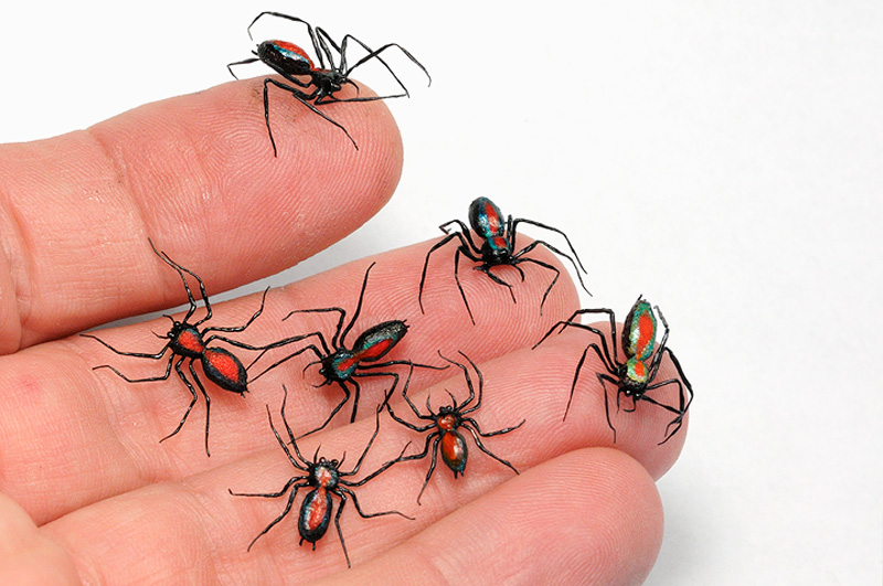 tiny spider props custom made for The Amazing Spiderman