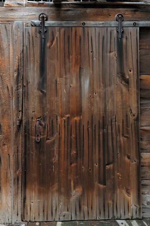 Old wodden barn door