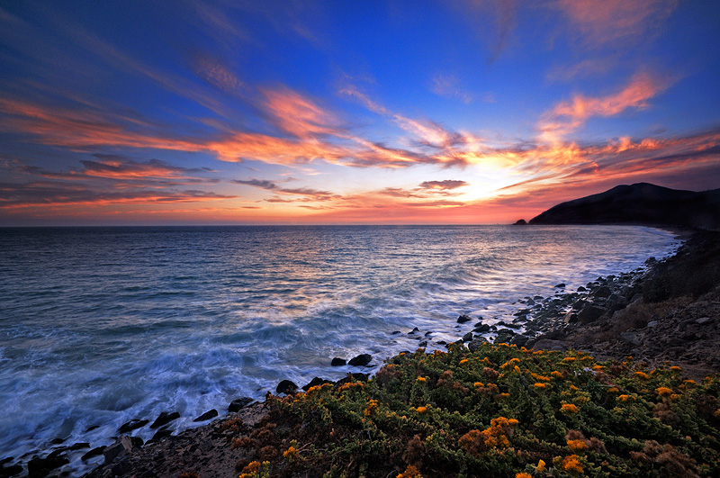 california beaches sunset. Point Mugu Sunset