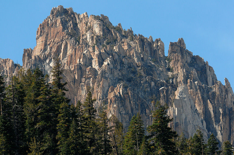 Sierra mountain peak in the Sawtooth range